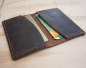 Men's Slim Leather Wallet / Minimalist Leather Wallet / Business Card Holder / Leather Card Holder / Card Holder Wallet