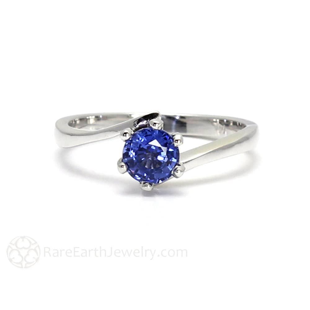 blue sapphire engagement ring ceylon blue sapphire ring bypass