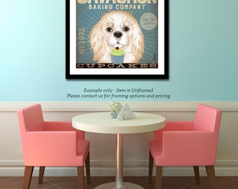 Cavachon coffee wine beer cupcake company illustration graphic art giclee signed artists print by Stephen Fowler PIck A Size