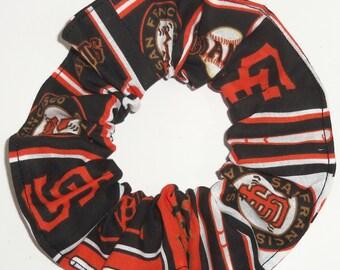 San Francisco Giants Fabric Hair Scrunchie Scrunchies by Sherry MLB Baseball