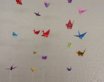 Origami crane party decor, photo booth backdrop, props, mobile, strand