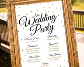 PRINTABLE - Wedding Party Sign, Gold Wedding Decor, Black & Gold Party Decor, Large Custom Wedding Sign, Art Deco Wedding, Welcome Sign