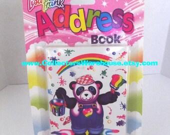 Lisa Frank Address Book Panda Painter Vintage Stuart Hall school office supplies HARDCOVER