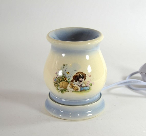 Electric Tart Warmers ~ Electric tart burner oil warmer bunny and puppy