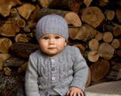 Jasper Cardi and Beanie - Baby Cakes by lisaFdesign - Download Now - Pattern PDF