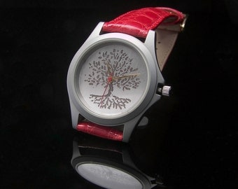 Silver Argentium Tree of Life watch