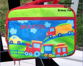 Personalized Transportation, Lunchbox, School, Lunch Sac, Personalized Lunchbox, Kids Lunchbox, Lunch Box, Lunch Pal,