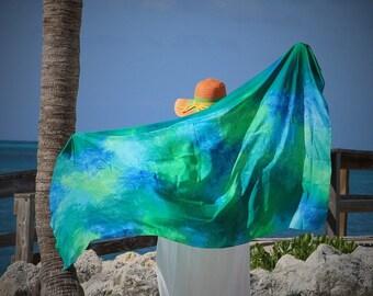 Island Girl ... hand painted silk sarong