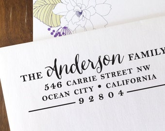 custom ADDRESS STAMP with proof from USA, Eco Friendly Self-Inking stamp, return address stamp, custom stamp, calligraphy designer stamp 167