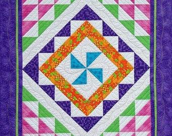 Trip Around the Rainbow Quilt Pattern PDF #427e