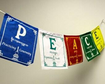 P.E.A.C.E. Prayer Flags