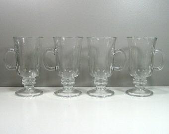 Libbey Glass Irish Coffee Cups Mugs Set of 4