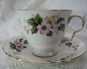 Fine Bone China Tea Cup and Saucer--Queen Anne--SALE