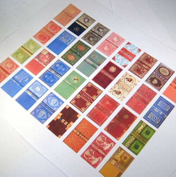 Miniature Book Covers Set 1 1:12 Scale Downloadable By Whydgc