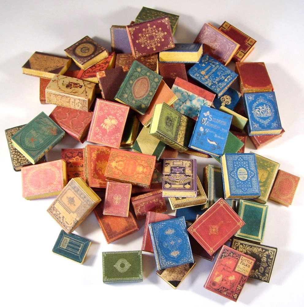 Miniature Book Covers Set 2 1:12 Scale Downloadable By Whydgc