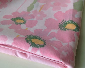 vintage floral pink and stripes standard pillowcases set of two