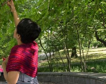 PDF Knitting Pattern: Cranberry Dreams Shawl