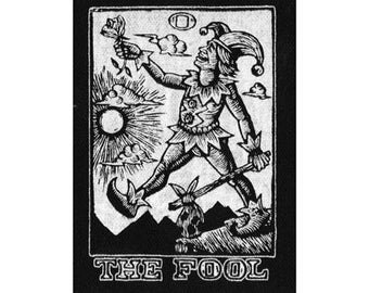 The Fool Sew On Tarot Patch, Occult Punk Patch, Occult Tarot Card Patch, Jester Patch
