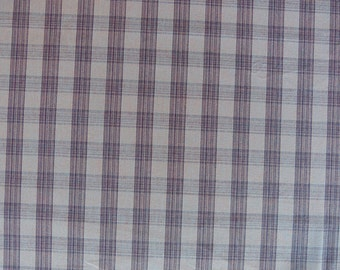 Woven Lavender And Plum Check Drapery Upholstery Fabric By the Yard
