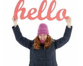 XL hello sign for your home or office