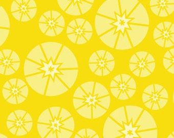 CLEARANCE Topper Yellow Organic Cotton Quilting Fabric Sew Yummy