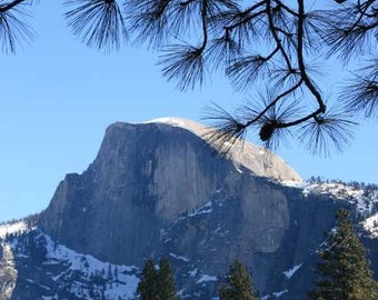 Romantic Yosemite - Majestic (El Capitan vista photography print, grand view vista half dome rocks trees nature landscape California)