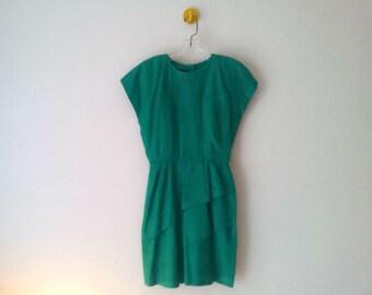 Grassy Green Petal Dress