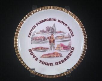 Vintage Father Flanagan's Boys' Home Boys Town Nebraska Souvenir Plate