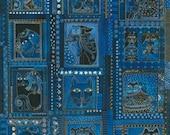 Fabulous Felines Panel in Blue Laurel Burch 1 Panel