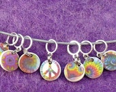 Tiny TIEDYE lacework stitchmarkers for KNITTERS or CROCHETERS