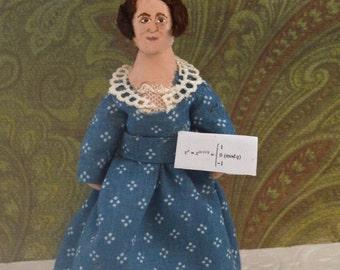 Sophie Germain Mathematician Doll Miniature Historical Women Art Character