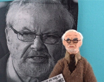 Maurice Sendak  Author of Where the Wild Things Are Miniature Doll