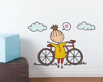 A fine day for a ride - Wall Decal - Wall Sticker