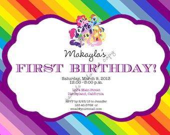 My Little Pony Printable Invitation / Birthday Party / Baby Shower, etc.