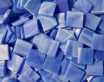 Mini Sapphire Blue Tumbled Stained Glass Mosaic Tiles