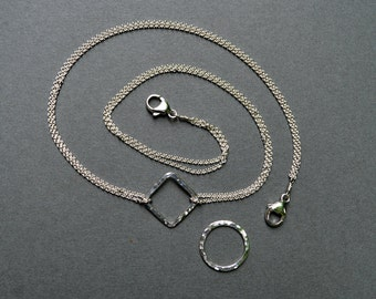 Double Detachable Sterling Silver Cable Chain for Link Necklaces