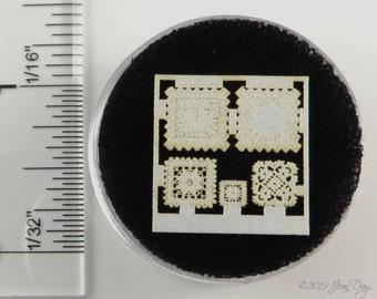 KIT 1:48 Laser Lace, Cotton, Quarter Scale Lace Doily Squares Grouping larger, LQ005L