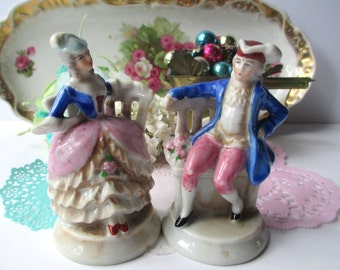 Vintage Occupied Japan Colonial Man and Woman Figurines