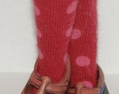 Short Maroon With Blush Dot Socks For Blythe...One Pair Per Listing