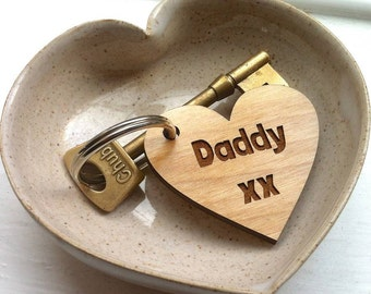 Message On A Heart - Personal Message on a Heart Keyring