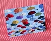 Umbrellas Notecard