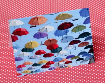 Umbrellas Notecard
