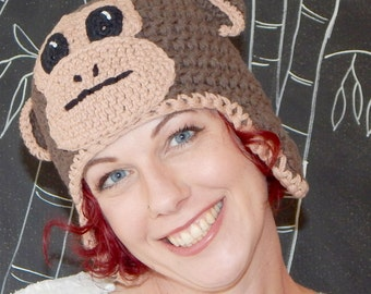 Monkey Hat with Ear Flaps