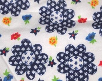vintage 50s cotton print fabric, featuring adorable floral design, various sizes, priced PER PIECE