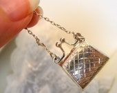 Antique Miniature .925 Sterling Silver Hinged Doll Purse Hand Engraved