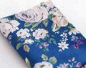 4052 - Cath Kidston Hampstead Rose (Dark Blue) Cotton Canvas Fabric - 57 Inch (Width) x 1/2 Yard (Length)