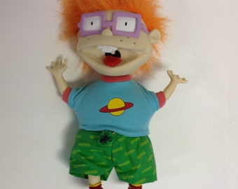 1990's Vintage Rugrats Screaming Shaking Chuckie doll