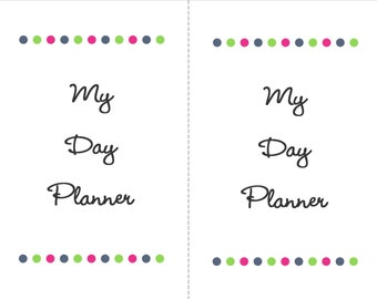 Day Planner with Budget Pages - Printable Mini Binder PDF