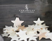 50 Unfinished Small Thin Wood Star Cutout