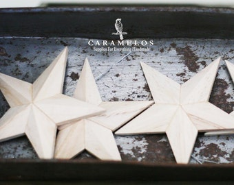 Unfinished Wood 3D Star